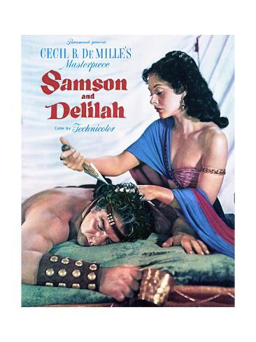 Samson and Delilah - Movie Poster Reproduction Art Print