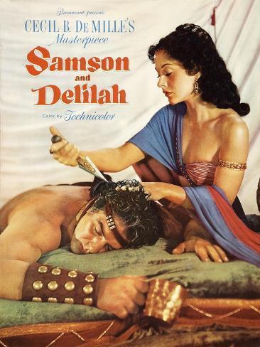 Samson & Delilah, 1949 Impressão artística