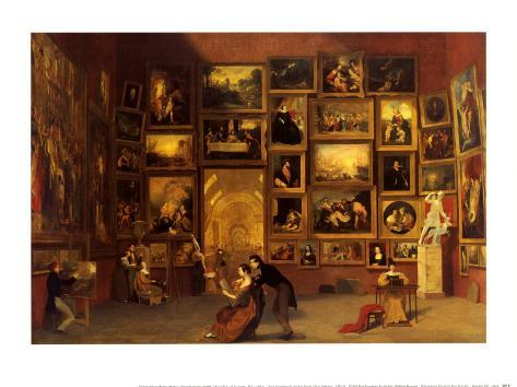 Gallery of the Louvre, 1831-33 Art Print