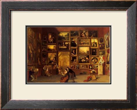 Gallery of the Louvre, 1831-33 Framed Art Print