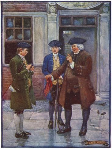Samuel Johnson, English Man of Letters, Talking to Oliver Goldsmith, English Author, C1755-1774 Giclee Print