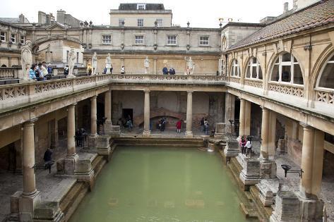 England, Somerset, Bath, Bath Abbey, Roman Baths Photographic Print ...