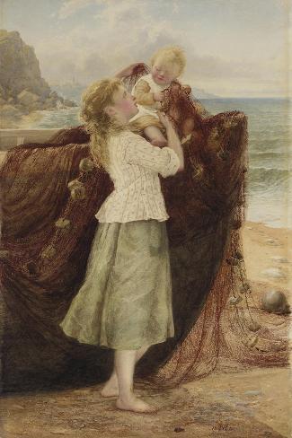 A Fisherman's Children, 1881 Giclee Print