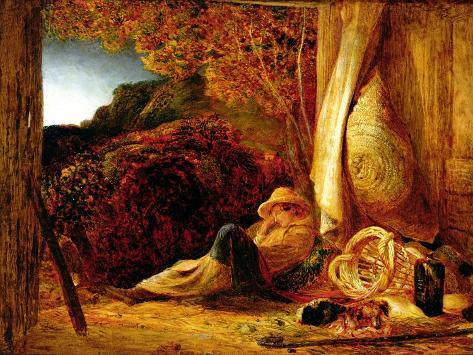 The Sleeping Shepherd, 1834 Lámina giclée