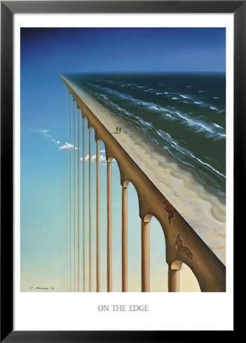 On the Edge Lamina Framed Art Print