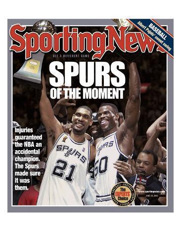 San Antonio Spurs Tim Duncan and David Robinson - 2003 NBA Champs - June 23, 2005 Photo
