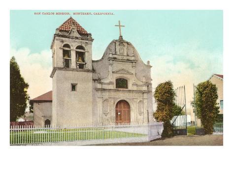 San Carlos Mission, Monterey, California Art Print