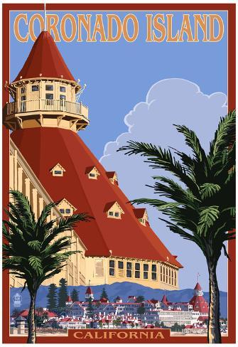 San Diego California Hotel Del Coronado Prints At