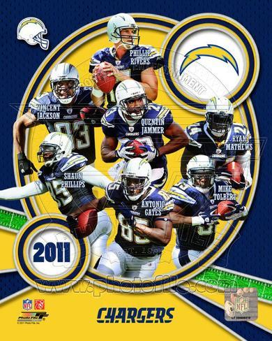 San Diego Chargers 2011 Team Composite Photo At Allposters Com