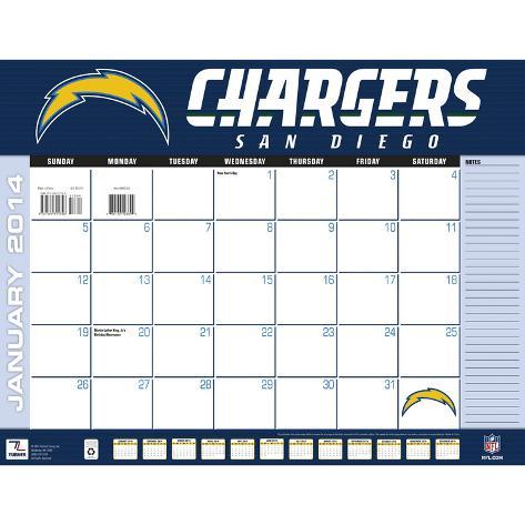 San Diego Chargers - 2014 Desk Calendar Calendars