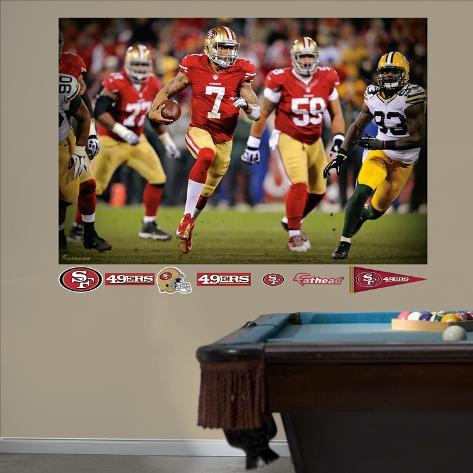 San Francisco 49ers Colin Kaepernick: 2013 NFL Playoff Rush Mural Decal Sticker Wall Mural