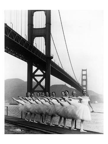 San Francisco Ballet Company and the Golden Gate, c.1960 Giclee Print