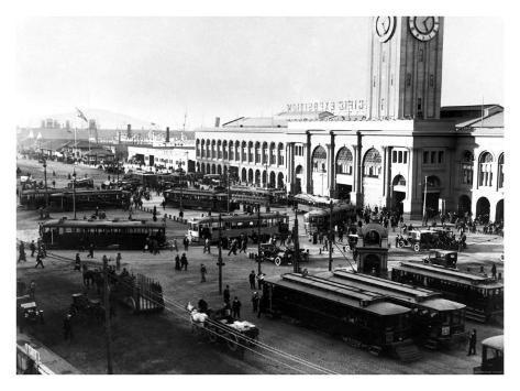 San Francisco, Cable Cars, Wharf Giclee Print