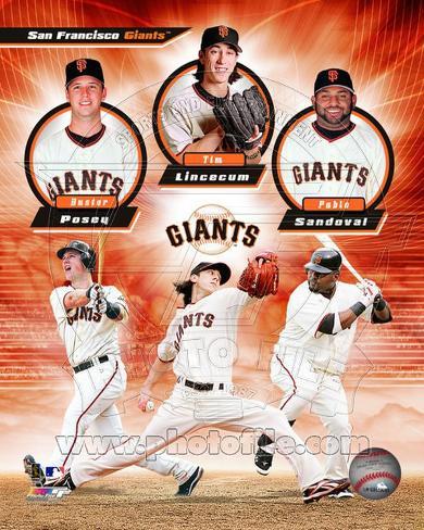 San Francisco Giants 2011 Triple Play Composite Photo