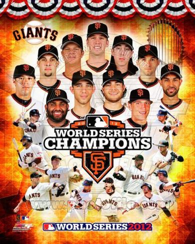 San Francisco Giants 2012 World Series Champions Composite Photo