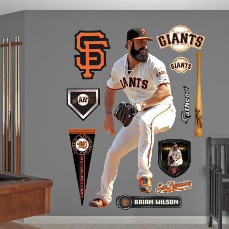 San Francisco Giants Brian Wilson Wall Decal Sticker Wall Decal