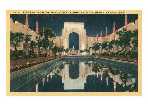 San Francisco World's Court of Reflections Art Print