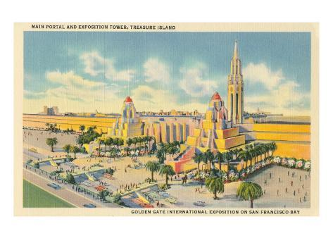 San Francisco World's Fair, Main Portal Stretched Canvas Print