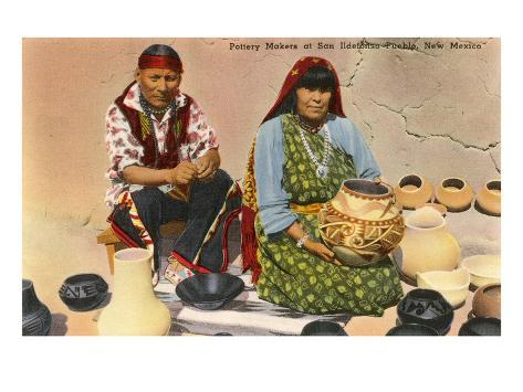 San Ildefonso Pottery Makers, New Mexico Art Print