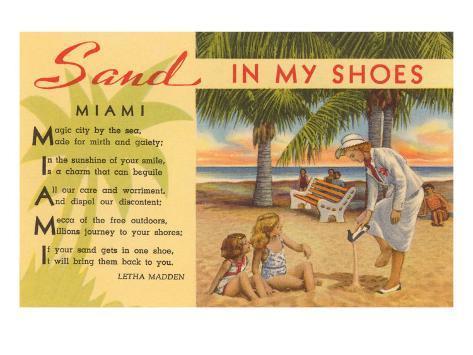Sand in My Shoes, Poem, Florida Art Print