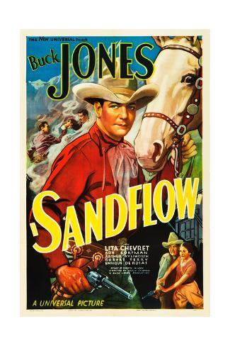 SANDFLOW, top: Buck Jones, 1937. Stretched Canvas Print