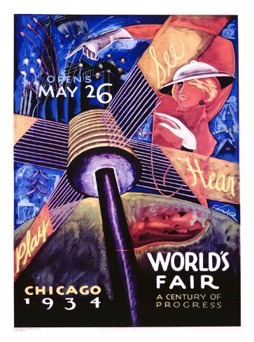 Chicago World's Fair, 1934 Giclee Print