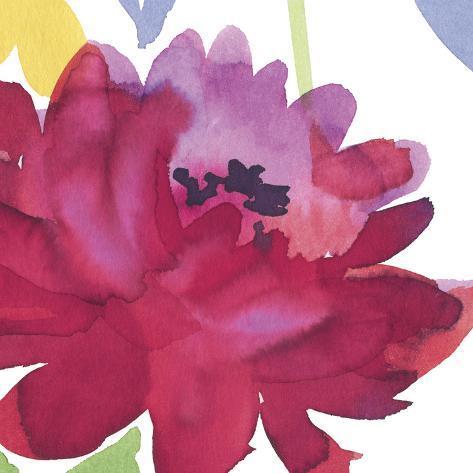 Crimson Flower I Art Print