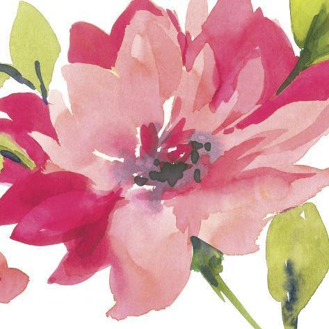 Crimson Flower II Art Print