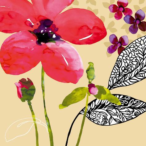 Fun Flowers I Giclee Print