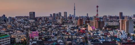 Tokyo Sunrise Skyline with Sky Tree Photographic Print