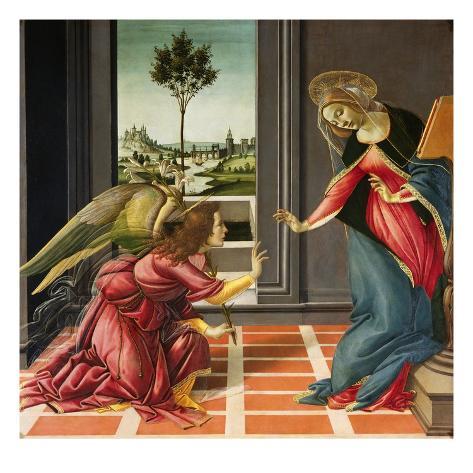 Annunciation (1489-1490) Giclee Print