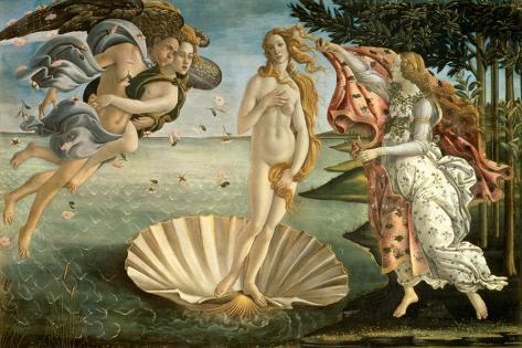 Birth of Venus Stretched Canvas Print