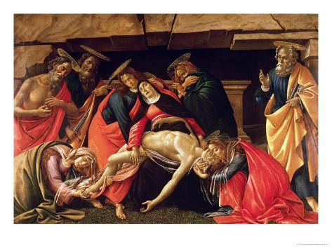 Lamentation of Christ. circa 1490 Giclee Print