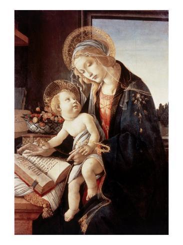 Madonna Del Libro Giclee Print