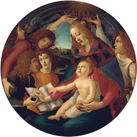Madonna of the Magnificat Lámina giclée