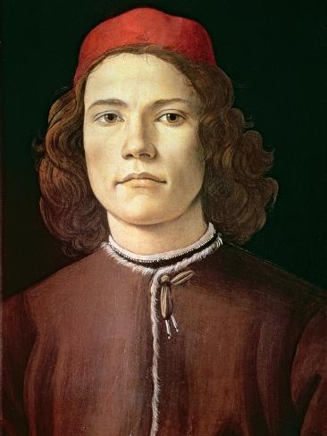 Portrait of a Young Man, circa 1480-85 Giclee Print