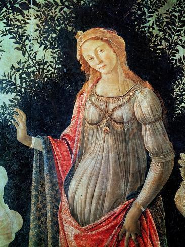 Primavera, Detail of Venus, circa 1478 Giclee Print