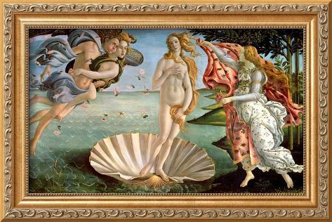 The Birth of Venus, c.1485 Framed Giclee Print