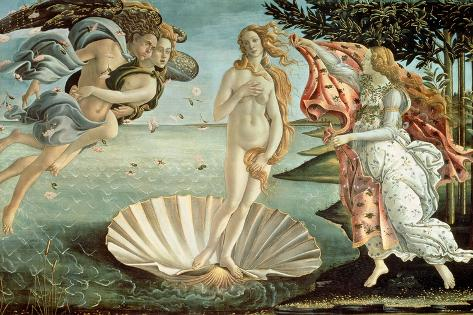 The Birth of Venus, c.1485 Giant Art Print