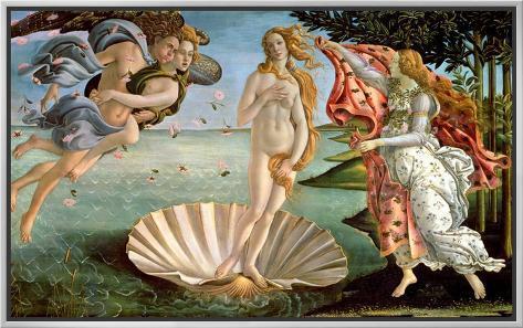The Birth of Venus, c.1485 Framed Canvas Print