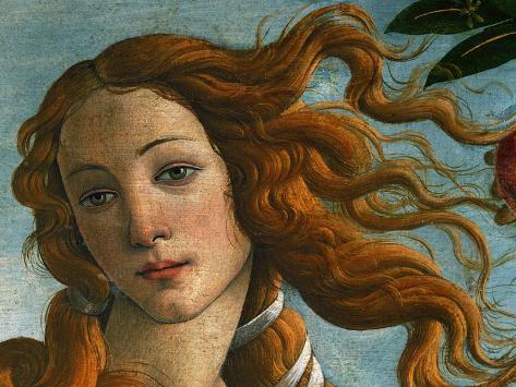 The Birth of Venus (Head of Venus), 1486 Impressão giclée