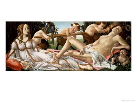 Venus and Mars, circa 1485 Stampa giclée