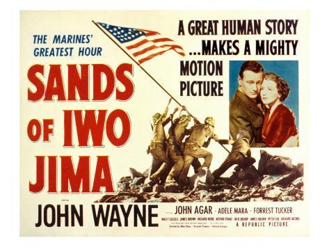 Sands of Iwo Jima, John Wayne, Adele Nara, 1949 Photo