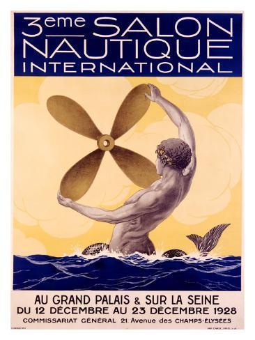 3rd Salon Nautique International Giclee Print