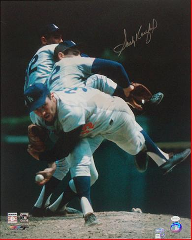 Sandy Koufax Multi Exposure Autographed Photo (Hand Signed Collectable) Photo
