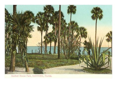 Sanford House Park, Sanford, Florida Art Print