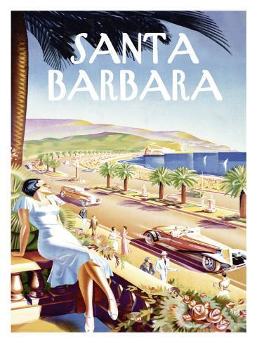 Santa Barbara Beach Resort Giclee Print