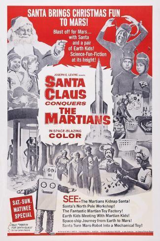 Santa Claus Conquers the Martians, 1964 Art Print