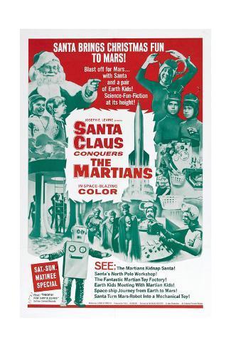 Santa Claus Conquers the Martians Art Print