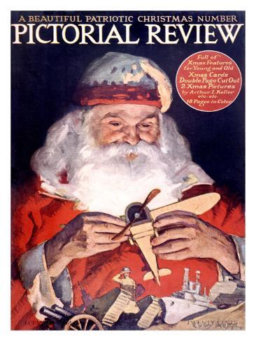 Santa Claus Pictorial Review Giclee Print